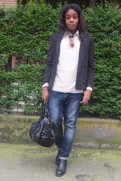 H&M blazer - Zara jeans - H&M sunglasses