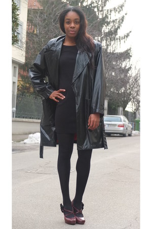 black GHIGA dress - black Yves Saint Laurent jacket - crimson Madden Girl pumps