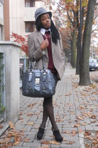 crimson Luisa Spagnoli sweater - black Nasty Gal boots - gray Guess bag