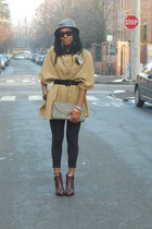 mustard H&M cape - brick red Pennyblack boots - heather gray Zara bag
