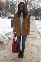 casio watch - black Primark boots - navy Zara jeans - sky blue denim H&M shirt