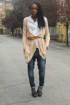 Zara jeans - Zara bag - H&M belt - Pennyblack sandals - H&M cardigan