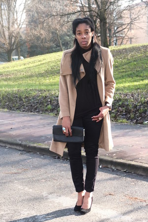 Pennyblack coat - desigual jeans - Stefanel bag - Jessica Buurman ring