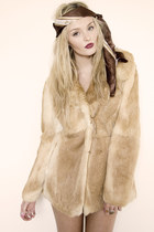 Vintage Real Rabbit Fur Coat coat
