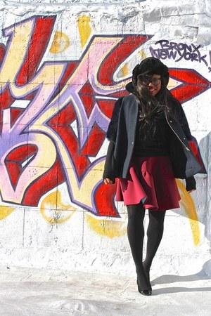navy Mulberry coat - black woolrich hat - black Equipment sweater