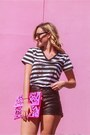Cosmo-shoes-boy-meets-girl-shirt-ami-club-wear-bag-faux-leather-h-m-shorts