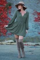 Chinese Laundry boots - Sheinside dress