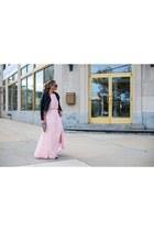 black Forever 21 shoes - bubble gum Lulus dress - black H&M jacket