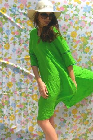 Bright Green Beaded Tunic from India