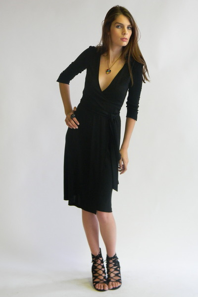Dvf Black Wrap Dress black Diane von Frustenberg
