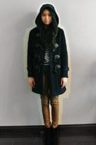black Jeffrey Campbell boots - navy Ralph Lauren coat