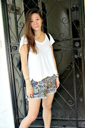 pamela love necklace - Alexander Wang bag - ecote t-shirt - we who see sandals