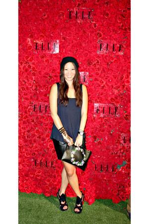 clutch Givenchy bag - Groceries top - Camilla Skovgaard heels - Zara skirt