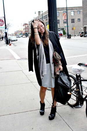acne boots - mm6 jacket - acne shirt - Alexander Wang bag - All Saints skirt