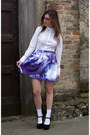 Violet-galaxy-printed-chicnova-skirt-violet-firmoo-glasses