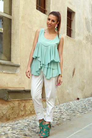 aquamarine PERSUNMALL top - white united colors of benetton pants