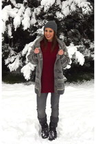 heather gray romwe cardigan - crimson Pringle of Scotland sweater