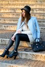 Light-blue-zara-jacket-black-zign-boots