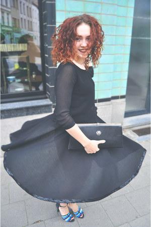 vintage bag - Bershka blouse - vintage skirt - Zara heels