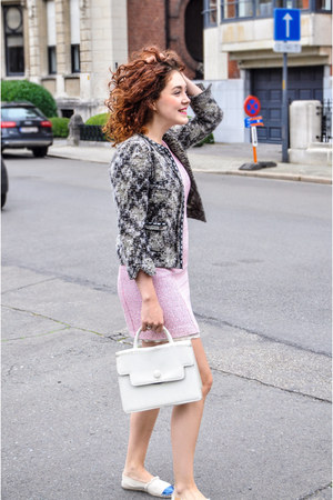 vintage bag - Mango dress - Zara blazer - Mint&Rose loafers