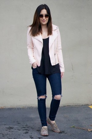 light pink leather Forever21 jacket