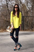 yellow Nordstrom top