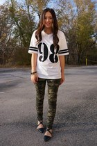 army green camo Forever 21 pants