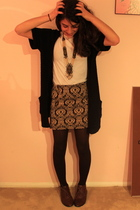 black silence and noise cardigan - brown Jeffrey Campbell shoes - brown KBell ti