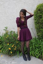 black fringe we who see boots - magenta lace free people dress
