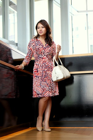 banana republic wedges - rayon Banana Republic x Issa London dress - LV bag