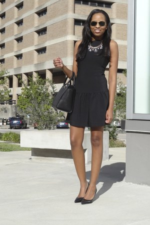 drop-waist banana republic dress - leather Nine West shoes