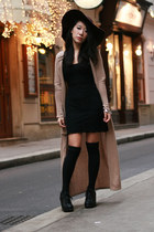 black 99 Jeffrey Campbell boots - black lace New Yorker dress - dark brown flopp