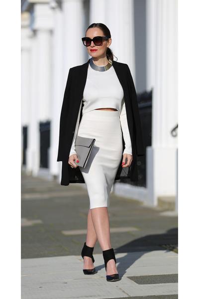 Zara top - next skirt