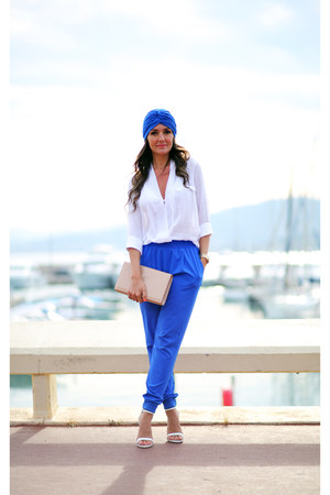Zara sandals - YSL bag - Zara blouse - Wayf pants