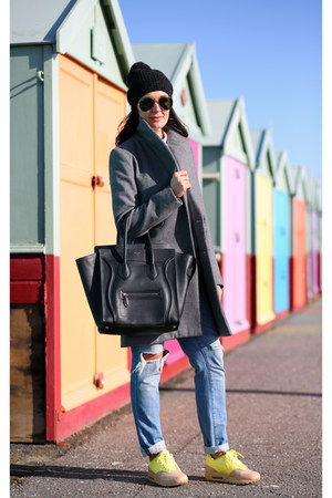 Celine bag - Zara coat - All Saints hat