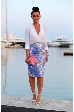 Zara skirt - Mulberry bag - Zara blouse - Zara sandals