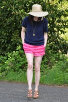 vintage hat - madewell sweater - Patterson J Kincaid shorts