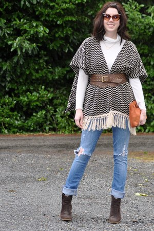 Enzo Angliolini boots - citizens of humanity jeans - swapped sweater - Gap top