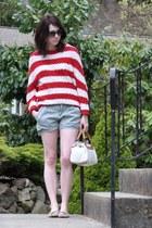 Lumiere sweater - kate spade bag - blank nyc shorts - Target flats