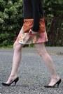 Thrifted-sweater-thrifted-bag-thrifted-skirt-miu-miu-heels