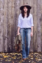 blue Gap jeans - tawny sam edelman boots - army green Jcrew coat