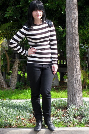 black Forever 21 shirt - black Forever 21 jeans - black Jazz shoes shoes