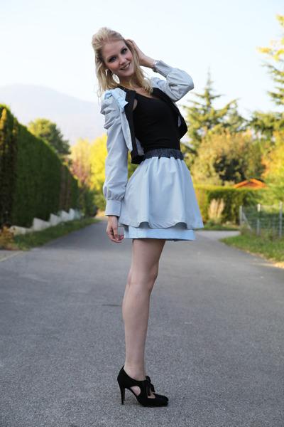 bow LK Bennett heels - J-Little-Dots jacket - J-Litts-Dots skirt
