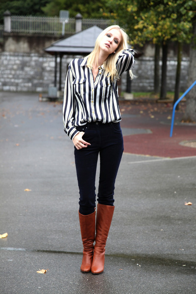 silk Luisa Spagnoli shirt - leather LK Bennett boots