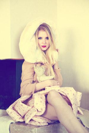 faux fur-fur Sabrina Fischer coat - puffy Sabrina Fischer skirt