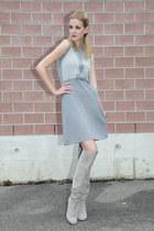 knitted Luisa Spagnoli dress - high heeled La Redoute boots