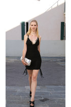 sequined APHERO dress - silver lanvin bag - bow detail LK BENNETT London heels