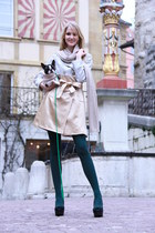 silver Miss Gueule dAnge coat - green deep green avant-premire tights