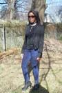 Black-forever-21-blazer-navy-divinerightsofdenim-jeans