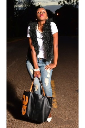 leather Aolibo bag - MRP jeans - ANGELO pumps